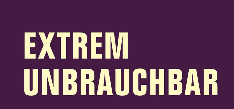 Eva Berendsen, Katharina Rhein, Tom David Uhlig (Hg.):  Extrem unbrauchbar